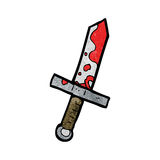 Cartoon bloody sword Royalty Free Stock Photo