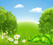 Cartoon blossoming nature Stock Photography