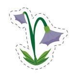 Cartoon blue bell flower image. Illustration eps 10 Royalty Free Stock Photography