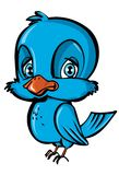 Cartoon of blue bird Stock Photography