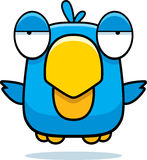 Cartoon Blue Bird. A cartoon blue bird flying in the air Royalty Free Stock Images