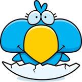 Cartoon Blue Bird Hatch. A cartoon illustration of a little blue bird hatching from an egg Royalty Free Stock Photography
