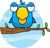 Cartoon Blue Bird. A cartoon blue bird sitting in a tree Stock Photography