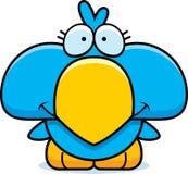 Cartoon Blue Bird Smiling Royalty Free Stock Photo