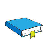 Cartoon blue book. Royalty Free Stock Image