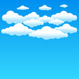 Cartoon blue clouds Royalty Free Stock Images