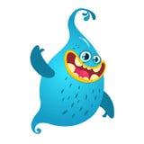 Cartoon blue ghost. Vector Halloween illustration Stock Photo