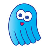 Cartoon blue jellyfish Royalty Free Stock Photography