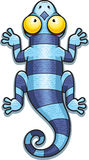 Cartoon Blue Lizard Royalty Free Stock Photo