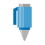 Cartoon blue pen utensil school Royalty Free Stock Images