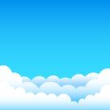 Cartoon blue sky Royalty Free Stock Image