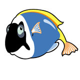 Cartoon blue tang fish Royalty Free Stock Photo