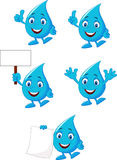 Cartoon blue water collection set Royalty Free Stock Images