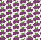Cartoon blueberries pattern Royalty Free Stock Photo