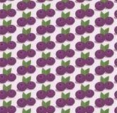 Cartoon blueberries pattern. Blueberries seamless pattern in flat style. Cartoon design Royalty Free Stock Photo