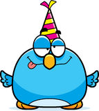 Cartoon Bluebird Drunk Party Royalty Free Stock Photo