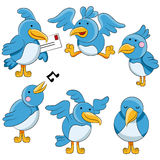 Cartoon Bluebirds Royalty Free Stock Photos