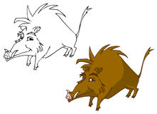 Cartoon boar. Illustration of a boar in cartoon style. Clipping path is included Stock Image