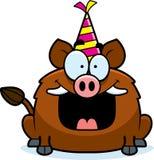 Cartoon Boar Birthday Party Royalty Free Stock Photography