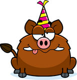 Cartoon Boar Drunk Party Royalty Free Stock Photos
