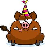 Cartoon Boar Drunk Party Royalty Free Stock Photos