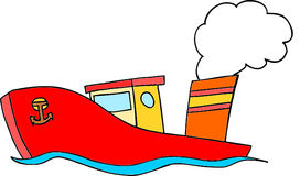 Cartoon boat royalty free stock images