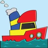 Cartoon boat Royalty Free Stock Photography