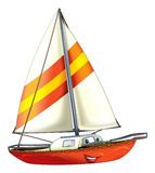 Cartoon boat. Beautiful illustration for the children Royalty Free Stock Images