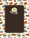 Cartoon boat card Stock Images