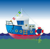 Cartoon boat Stock Images