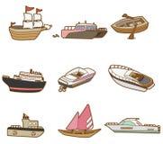 Cartoon boat icon. Vector drawing Royalty Free Stock Photography