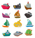 Cartoon boat icon Royalty Free Stock Images