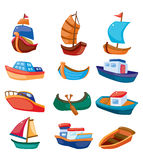 Cartoon boat icon Stock Images