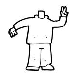 Cartoon body giving peace sign (mix and match cartoons or add own photos) Royalty Free Stock Photo