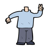 Cartoon body giving peace sign (mix and match cartoons or add own photos) Royalty Free Stock Photography