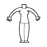 Cartoon body (mix and match cartoons or add own photos) Stock Photography