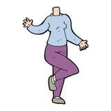 Cartoon body (mix and match cartoons or add own photos) Stock Photos