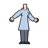 Cartoon body (mix and match cartoons or add own photos) Stock Photography