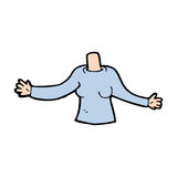 Cartoon body (mix and match cartoons or add own photos) Royalty Free Stock Photography