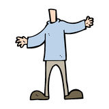 Cartoon body (mix and match cartoons or add your own photo head) Royalty Free Stock Photo