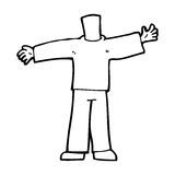 Cartoon body with open arms  (mix and match cartoons or add own photos) Royalty Free Stock Photo