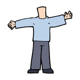 Cartoon body with open arms  (mix and match cartoons or add own photos) Royalty Free Stock Image