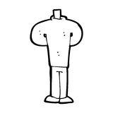 Cartoon body standing still  (mix and match cartoons or add own photos) Royalty Free Stock Photo
