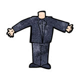 Cartoon body in suit (mix and match cartoons or add own photos) Stock Photography