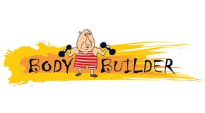 Cartoon bodybuilder Royalty Free Stock Image