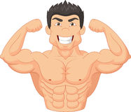 Cartoon Bodybuilder. Illustration of Cartoon Bodybuilder isolated on white Royalty Free Stock Photos