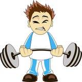 Cartoon bodybuilder Royalty Free Stock Image
