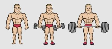 Cartoon Bodybuilder Stock Photos