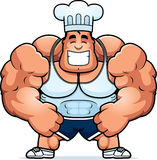 Cartoon Bodybuilding Chef Stock Photo