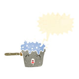 Cartoon boiling water Royalty Free Stock Images